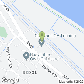 Map of Manden Accident Repair Centre Ltd in Flint, clwyd