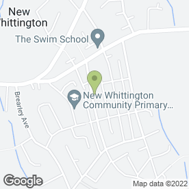 Map of JG Couriers in New Whittington, Chesterfield, derbyshire