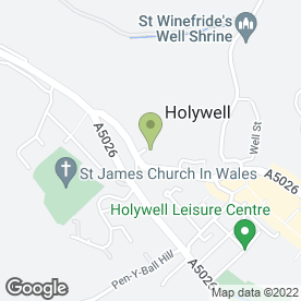 Map of A Schwarz & Sons in Holywell, clwyd
