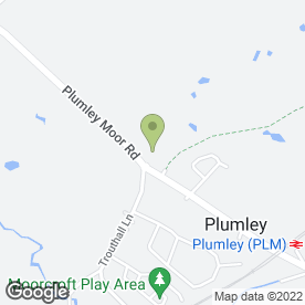Map of Plumley P.O in Plumley, Knutsford, cheshire