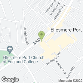 Map of Specsavers Hearing Centres in Ellesmere Port, merseyside
