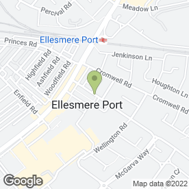 Map of Cambridge Road Veterinary Centre in Ellesmere Port, merseyside