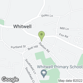 Map of Whitwell Community Centre in Whitwell, Worksop, nottinghamshire