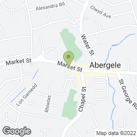 Map of North Wales Community Dental Service in Abergele, clwyd