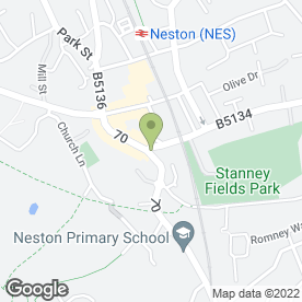 Map of NESTON SUNBED STUDIO in Neston, merseyside