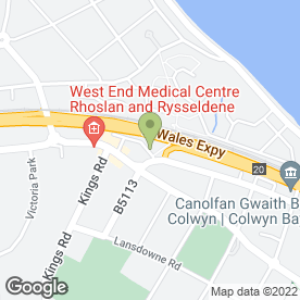 Map of Mel Williams Window Cleaners in Colwyn Bay, clwyd