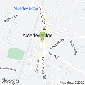 Map of WEDDING SHOP in Alderley Edge, cheshire