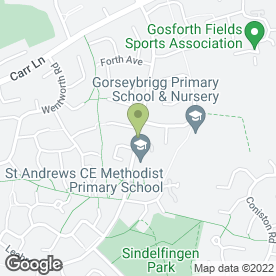 Map of Dronfield Veterinary Clinic in Dronfield Woodhouse, Dronfield, derbyshire