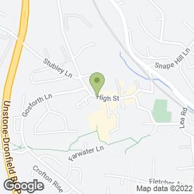Map of COLANTE in Dronfield, derbyshire