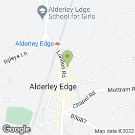 Map of Running Bear in Alderley Edge, cheshire