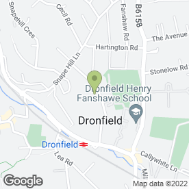 Map of WALTON PLASTERING & TILING SERVICES in Dronfield, derbyshire
