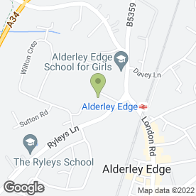 Map of Alderley Edge Pre School Playgroup in Alderley Edge, cheshire