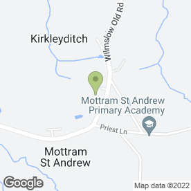 Map of The Foundation Nursery School in Mottram St. Andrew, Macclesfield, cheshire