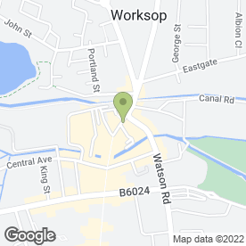 Map of Cafe Neo in Worksop, nottinghamshire