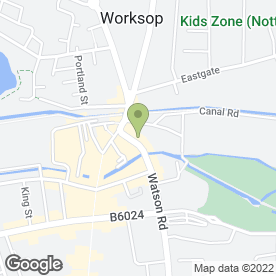 Map of Bo-Kay Florists in Worksop, nottinghamshire