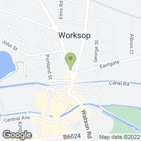 Map of Victoria Square P.O in Worksop, nottinghamshire
