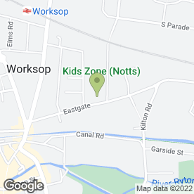 Map of North Notts Community Arena in Worksop, nottinghamshire