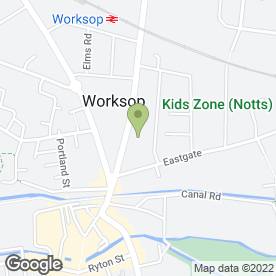 Map of R. West Plumbing & Heating Engineers in Worksop, nottinghamshire