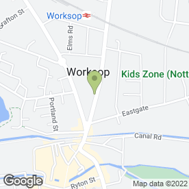 Map of Tip2Toe Beauty in Worksop, nottinghamshire