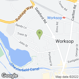 Map of Dean's Plastering Services in Worksop, nottinghamshire