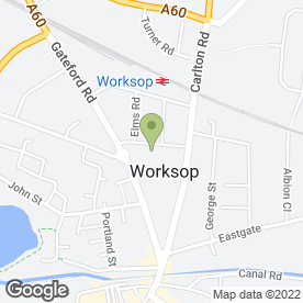 Map of Occupational Testing & Recruitment in Worksop, nottinghamshire