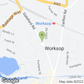 Map of GG-Plastering in Worksop, nottinghamshire