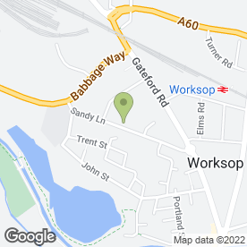 Map of Worksop Peugeot Centre Ltd in Worksop, nottinghamshire