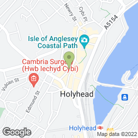 Map of Hi-Lites Hair & Beauty Salon in Holyhead, gwynedd