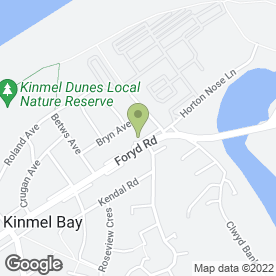 Map of Elite Interiors in Kinmel Bay, Rhyl, clwyd