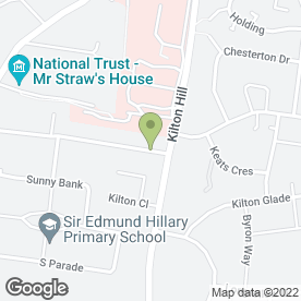 Map of RS Blinds & Shutters in Worksop, nottinghamshire