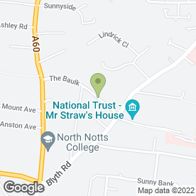 Map of GMS Plumbing & Mechanical Services in Worksop, nottinghamshire