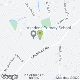 Map of Ashdene Primary School in Wilmslow, cheshire