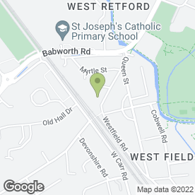Map of Upbeat Design Ltd in Retford, nottinghamshire