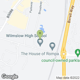 Map of Wilmslow High School in Wilmslow, cheshire