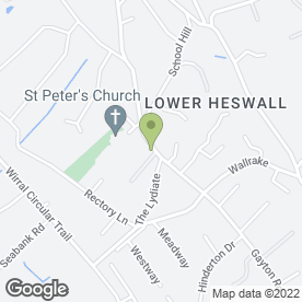 Map of LOWER VILLAGE GARAGE in Heswall, Wirral, merseyside