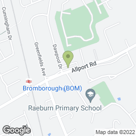 Map of Allerton Hearing Ltd in Bromborough, Wirral, merseyside
