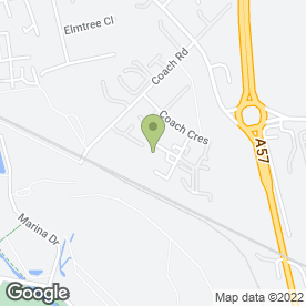 Map of Pinfold Property Services in Shireoaks, Worksop, nottinghamshire