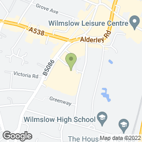 Map of Wilmslow & Alderly Edge Children Centre in Wilmslow, cheshire