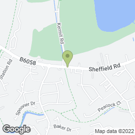Map of Akhtar's Indian Restaurant in Killamarsh, Sheffield, south yorkshire