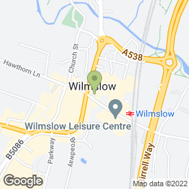 Map of Wilmslow Green Hair Studio in Wilmslow, cheshire
