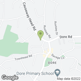 Map of Dore Dental Care in Dore, Sheffield, south yorkshire