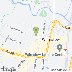 Map of Chiropodist in Wilmslow, cheshire