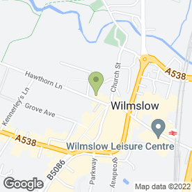 Map of Wilmslow Tax Solutions in Wilmslow, cheshire