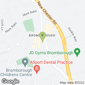Map of Bromborough Cross Car Sales in Wirral, merseyside
