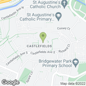 Map of Castlefields Health Centre in Castlefields, Runcorn, cheshire