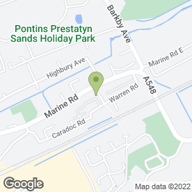 Map of Horton Signs in Prestatyn, clwyd