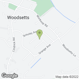 Map of Deans Banqueting in Woodsetts, Worksop, nottinghamshire