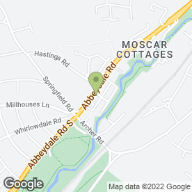 Map of Bradley Refrigeration Ltd in Sheffield, south yorkshire