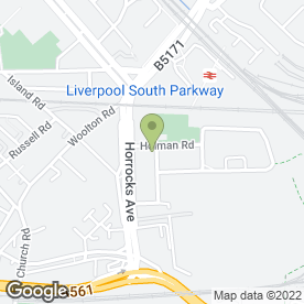 Map of Garston C of E Primary School in Garston, Liverpool, merseyside