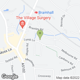 Map of Themed Dance Parties in Bramhall, Stockport, cheshire